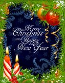 Christmas and New Year greeting card 3