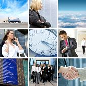 pic of time flies  - Collage abut business traveling - JPG