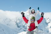 pic of family ski vacation  - Winter vacation  - JPG