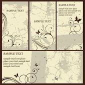 Set of decorative vector cards