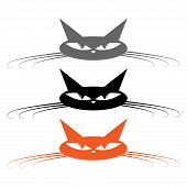 Set Cat Icon. Vector Illustration Of A Cartoon Cat. Funny Cat. poster