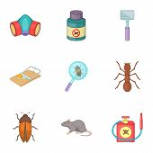 Disinfection Icons Set. Cartoon Illustration Of 9 Disinfection Icons For Web poster