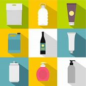 Packing Icons Set. Flat Illustration Of 9 Packing Icons For Web poster