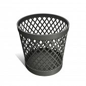 Wastepaper Basket black