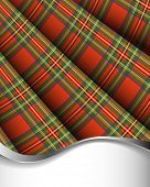 Red pleated tartan for background / vertical