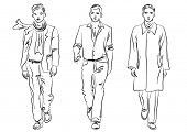 men fashion, vector