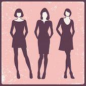 modelos de moda, vector