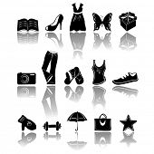 accessory & clothes icons, vector