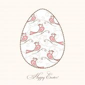 easter egg beautifully decorated, vector