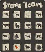 Mammals Web Icons For User Interface Design poster