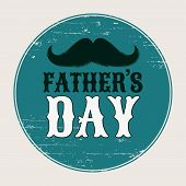 Fathers Day Holiday Poster With Mustache Silhouette. Moustaches Clipart. Paper Cutting Design. Musta poster