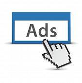Web ads concept
