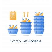 Grocery Store Sales Improvement, Retail Revenue Growth, Food Market Development, Full Grocery Basket poster