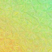 Green And Yellow Impressionism Impasto In Square Shape Background Illustration poster