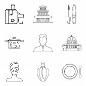 Little Wife Icons Set. Outline Set Of 9 Little Wife Icons For Web Isolated On White Background poster