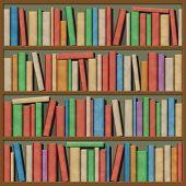 Una ilustración de libros en un estante