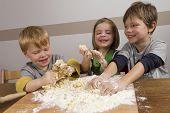 Kids Making Dough