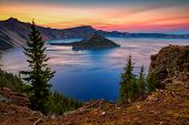 Crater Lake National Park In Oregon, Usa - Wizard Island poster