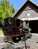 steam locomotive, Museum of Kysuce village, Vychylovka, Slovakia