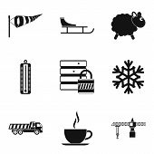 Homelike Atmosphere Icons Set. Simple Set Of 9 Homelike Atmosphere Icons For Web Isolated On White B poster