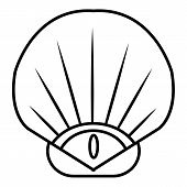 Sea Shell Icon. Outline Illustration Of Sea Shell Icon For Web poster