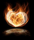 abstract flaming heart shape illustration