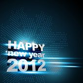 picture of new years celebration  - stylish blue color happy new year background - JPG