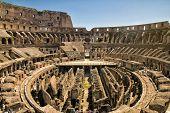 Colosseum interior  in Rome, Italy