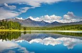 picture of landscapes beautiful  - Mountain landscape beautiful lake in Altai mountains - JPG