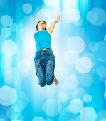 woman jump on dancer posing