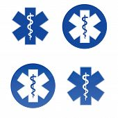 Medical Star Symbols