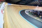 MOSCOW - AUGUST 19: Cycling track at UCI juniors track world championships on August 19, 2011 in Mos