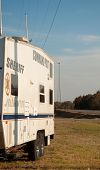 CREEK COUNTY, OKLAHOMA - AUGUST 6 2012: sheriff's command post in the intersection of highways 48 an
