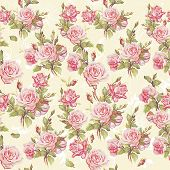 Classic Seamless floral background. Beautiful flower vector illustration. Elegance wallpaper with of