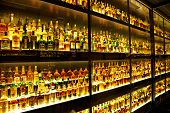 EDINBURGH, SCOTLAND - JULY 10:  Diageo Claive Vidiz collection with 3384 scotch whiskies, the larges