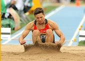 BARCELONA - JULY 10: Tim Nowak of Germany during Long Jump Decathlon event of the 20th World Junior