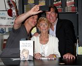 LOS ANGELES - AUG 7:  Christian LeBlanc, Jeanne Cooper, Peter Bergman at a Book Signing of