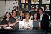 LOS ANGELES - AUG 7:  Tricia Cast, Christian LeBlanc, Jessica Collins, Jeanne Cooper, Kate Linder, Peter Bergman at a Book Signing at Book Soup on August 7, 2012 in W Holltwood, CA