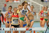 BARCELONA - JULY, 10: Tessa Potezny of Australia during 3000m steeplechase event of the 20th World Junior Athletics Championships at the Olympic Stadium on July 10, 2012 in Barcelona, Spain