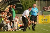 KAPOSVAR, HUNGARY - AUGUST 4: Laszlo Prukner (Kaposvar trainer) in action at a Hungarian National Ch
