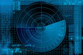 picture of war terror  - Abstract radar illustration - JPG