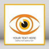 Llamativo diseño de ojo con el espacio de la copia.