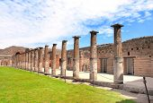 Ruins of Pompeii. Ancient columns