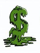 Dollarteken smelten