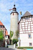 Old tower in Tauberbischofsheim town, Germany