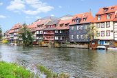 Little Venice - picturesque district on the river bank in Bamberg, Germany