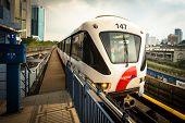 KUALA LUMPUR, MALAYSIA - MAR 30: Monorail train on Mar 30, 2013 in Kuala Lumpur, Malaysia. KL Monora