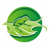 Logo de la hoja de rana