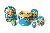 Bonecas russas isoladas