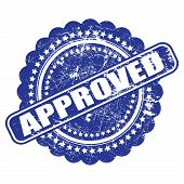 Seal Of Approval(quality Check) Grunge Vector On White Background
